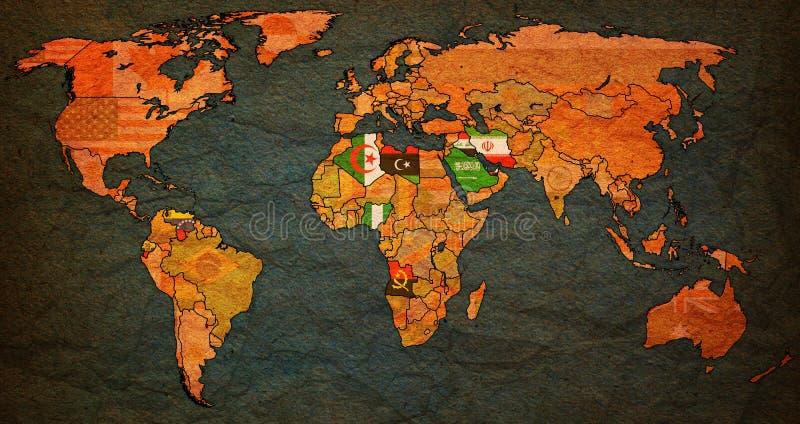 Organisatie van de Olieuitvoerende Landen royalty-vrije illustratie