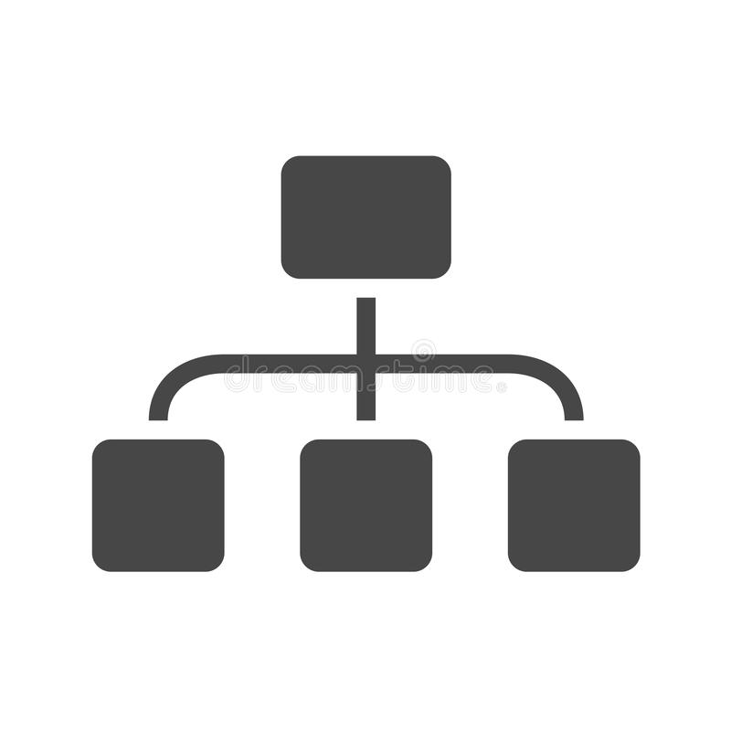 Organisatie Vlak Vectorpictogram stock illustratie