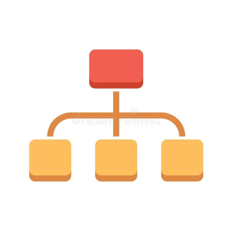 Organisatie Vlak Vectorpictogram vector illustratie