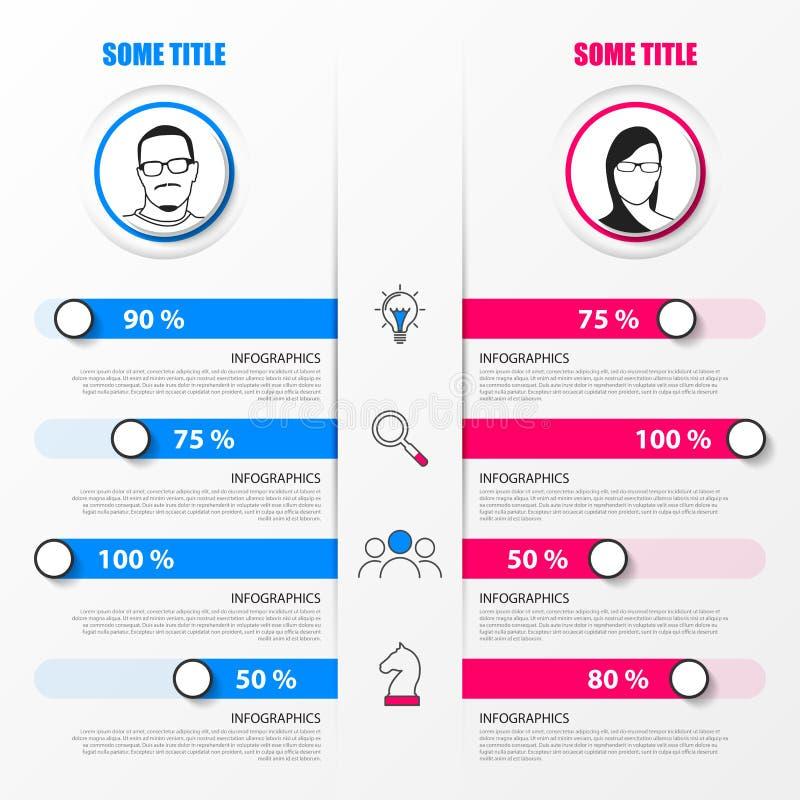 Organisatiegrafiek Het malplaatje van het Infographicontwerp Vector illustratie stock illustratie