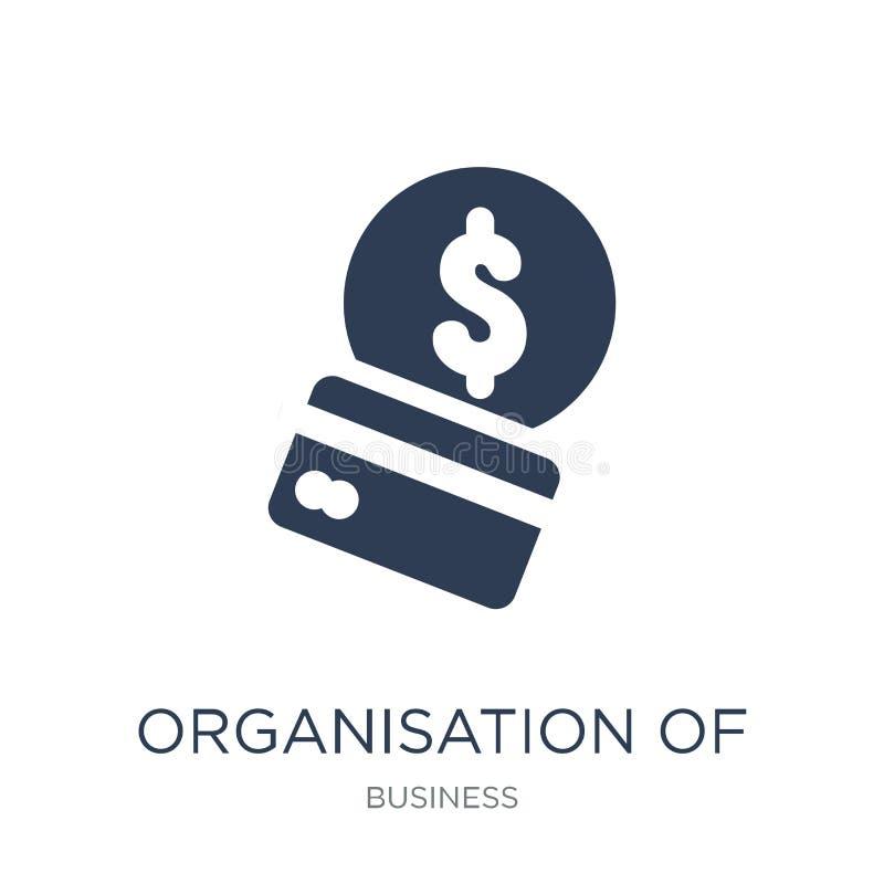 Organisation av symbolen för oljaexportland (Opec) trend royaltyfri illustrationer