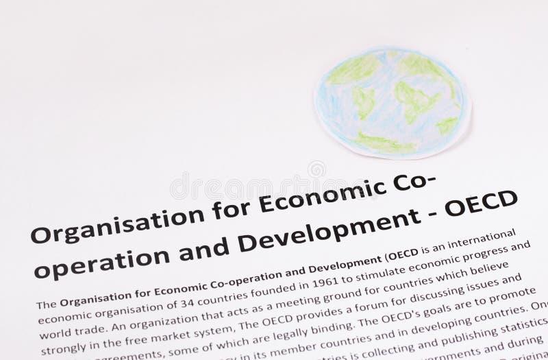 Organisation för ekonomiskt samarbete och utveckling. OECD. arkivbilder