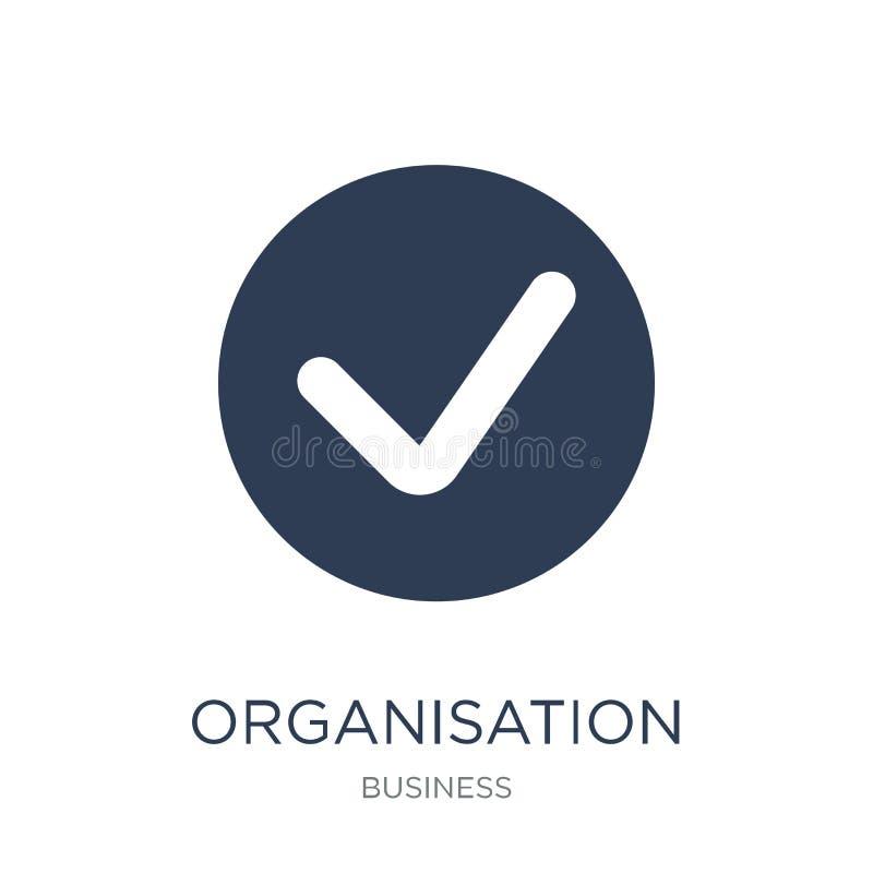 Organisation für Ikone der wirtschaftlichen Zusammenarbeit und der Entwicklung Tren vektor abbildung