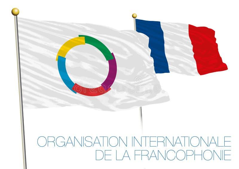 Organisation internationale de la Francophonie, OIF flag, france. Vector file, illustration OIF flag