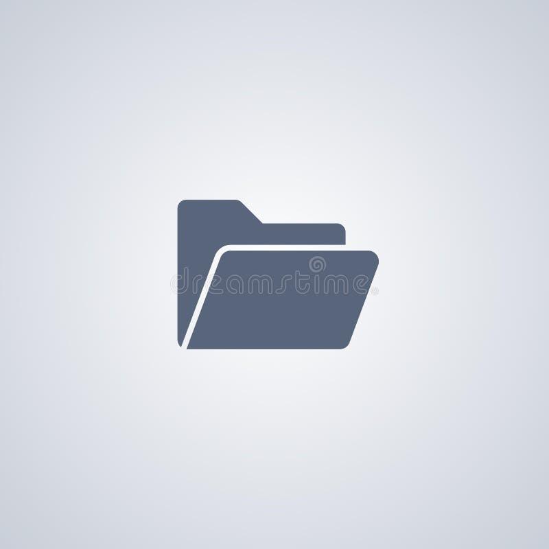 Organisation, Ordner, vector beste flache Ikone lizenzfreie abbildung