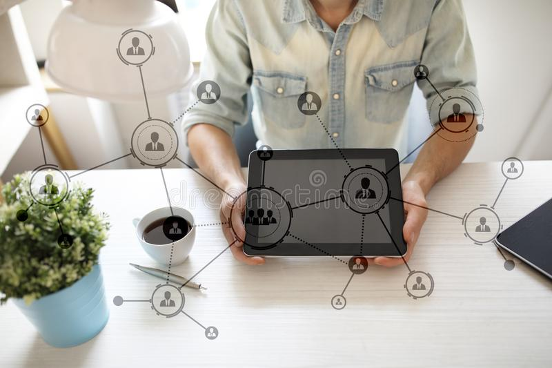 Download Organisation Structure. People`s Social Networ. Business And Technology Concept. Stock Image - Image of communication, interconnected: 105625573