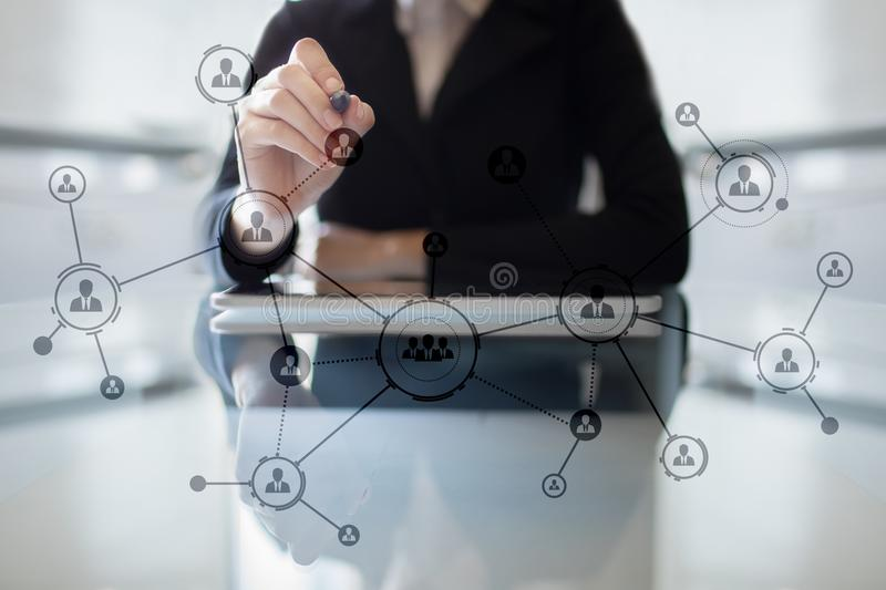 Download Organisation Structure. People`s Social Network. Business And Technology Concept Stock Image - Image of communication, discovery: 104404625