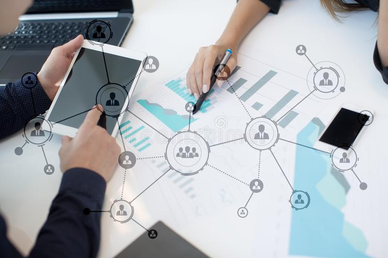 Download Organisation Structure. People`s Social Network. Business And Technology Concept Stock Photo - Image of bank, corporate: 104404908