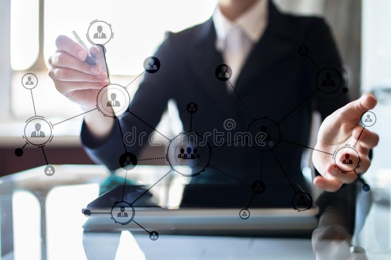 Download Organisation Structure. People`s Social Network. Business And Technology Concept Stock Photo - Image of management, communication: 105164262