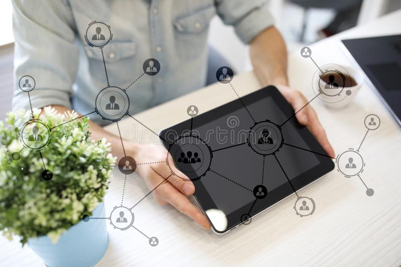Download Organisation Structure. People`s Social Network. Business And Technology Concept Stock Photo - Image of detective, processing: 105164416