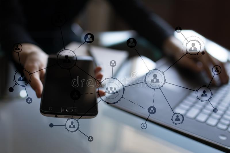 Download Organisation Structure. People`s Social Network. Business And Technology Concept. Stock Photo - Image of chart, organisational: 108809026