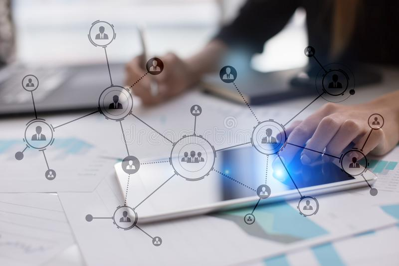 Download Organisation Structure. People`s Social Network. Business And Technology Concept. Stock Photo - Image of bank, manager: 108809236