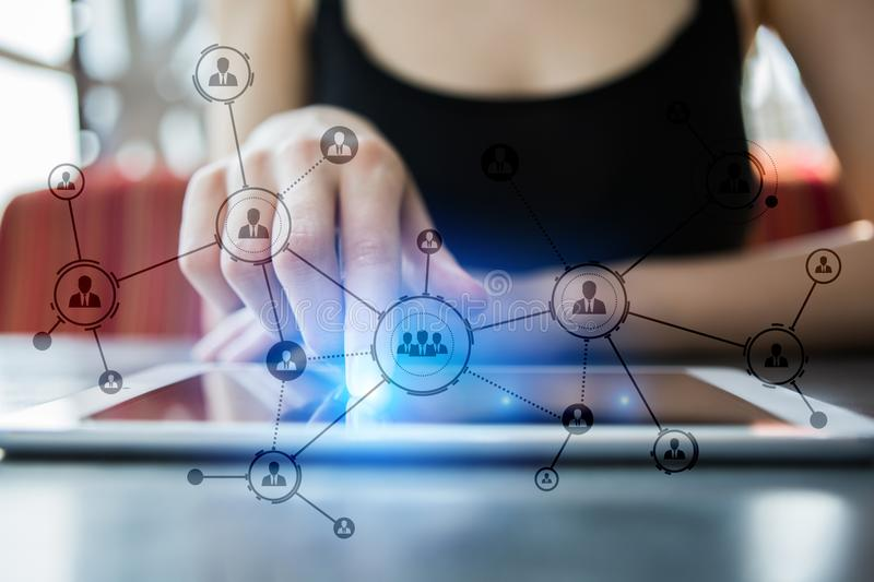 Download Organisation Structure. People`s Social Network. Business And Technology Concept. Stock Image - Image of partnership, strategy: 109340291
