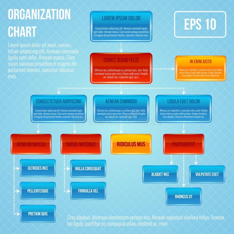 Organisational chart infographic stock illustration