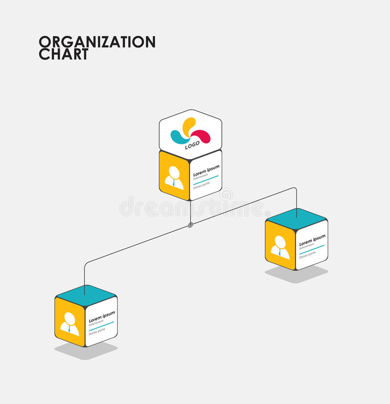 Organisationsübersicht infographics mit Baum, Diagrammfluß Vektor vektor abbildung