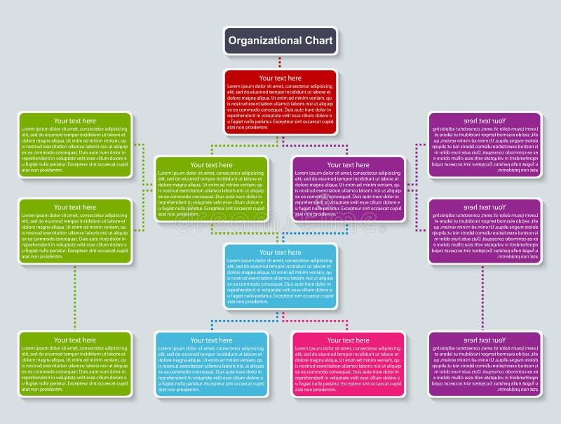 Organisationsübersichtschablone Auch im corel abgehobenen Betrag stock abbildung