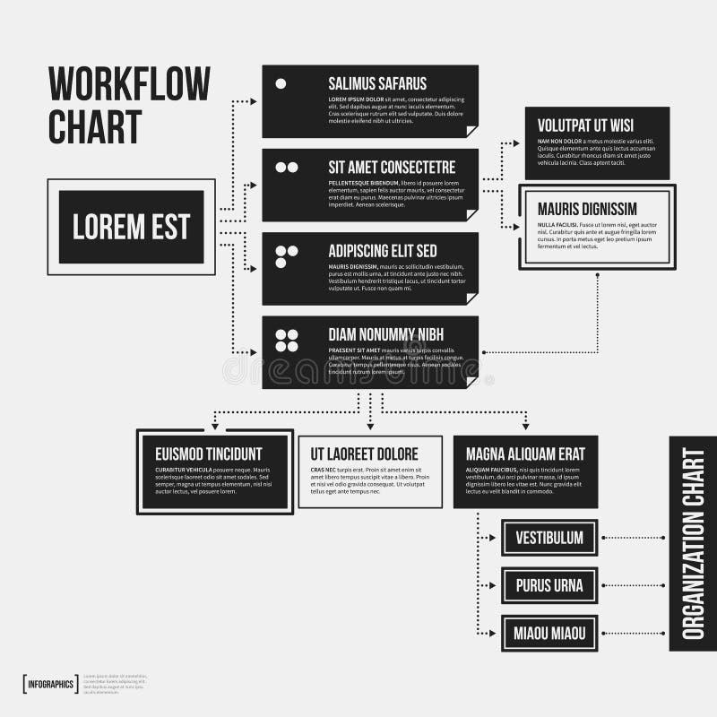 Organisationsübersichtschablone mit geometrischen Elementen lizenzfreie abbildung