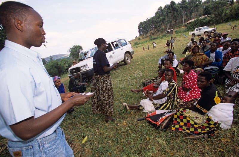 Organisations-SORGFALT-Arbeitskräfte, Uganda lizenzfreies stockbild