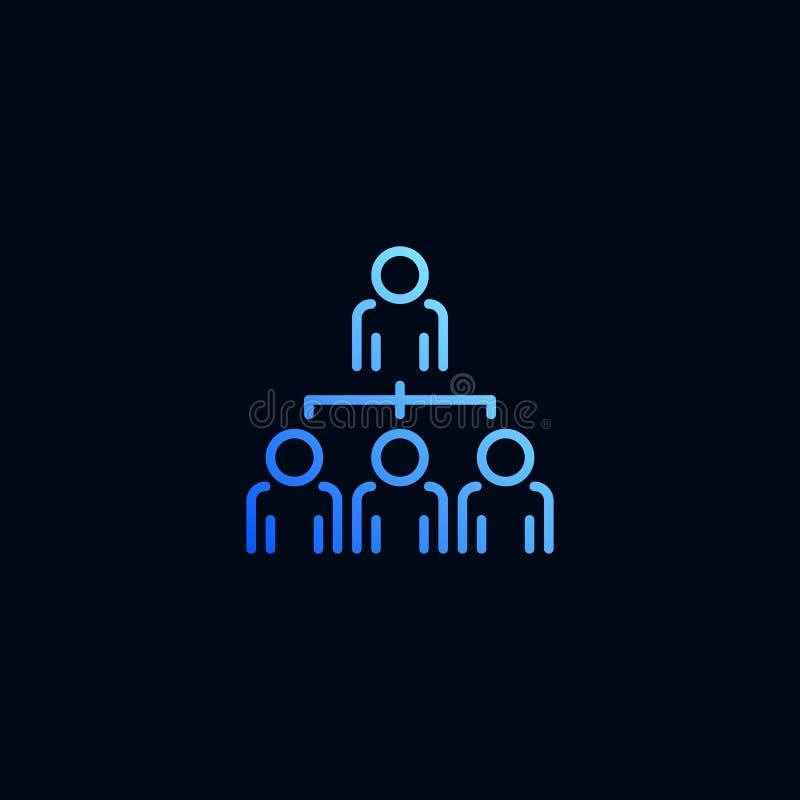 Organisationsdiagram, företagsstrukturlinje symbol Vektorillustration i linj?r stil vektor illustrationer