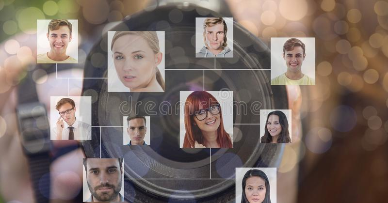 Organisationsdiagram framme av kamerabakgrund royaltyfri bild