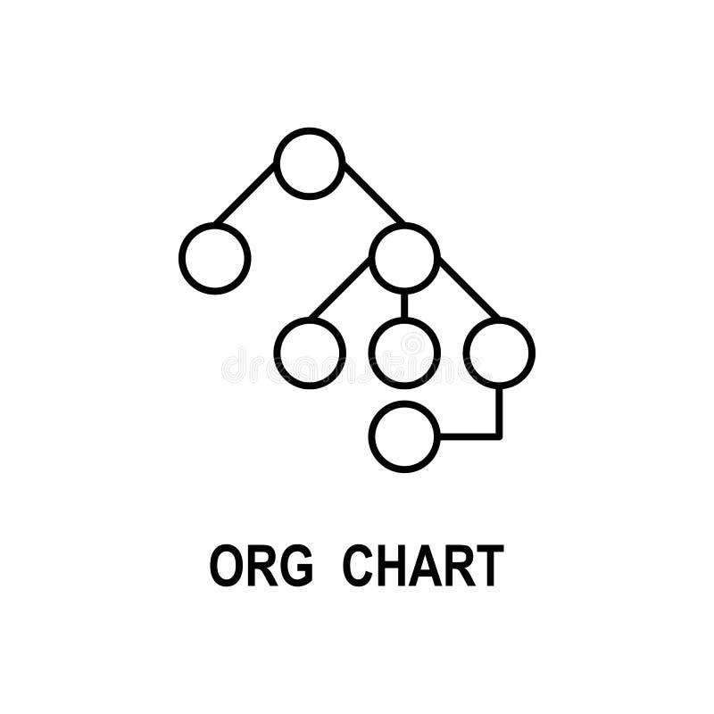 Organisationsdiagrammikone Element der Geschäftsstrukturikone für mobile Konzept und Netz Apps Dünne Linie Organisationsdiagrammi vektor abbildung