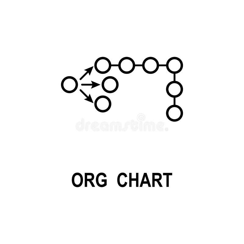 Organisationsdiagrammikone Element der Geschäftsstrukturikone für mobile Konzept und Netz Apps Dünne Linie Organisationsdiagrammi lizenzfreie abbildung