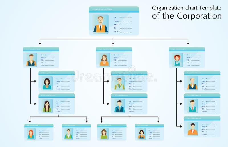 Organisationsdiagrammschablone der Gesellschaft lizenzfreie abbildung