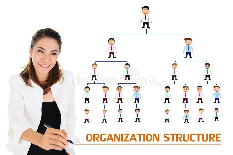Organisationsstruktur av affärsidéen arkivbild
