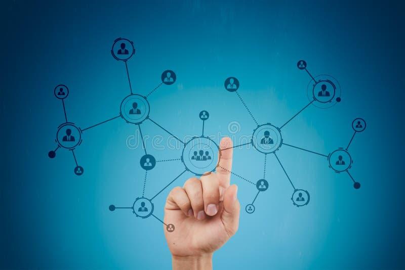 Organisationsstruktur Leute ` s Soziales Netz Geschäfts- und Technologiekonzept stockfoto