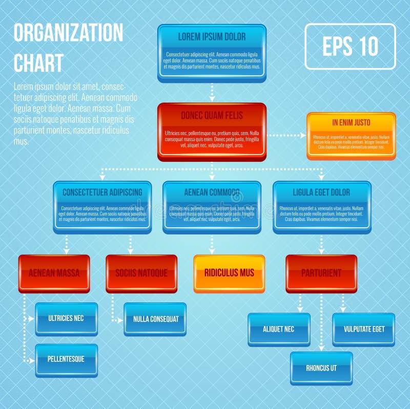 Organisatorisch grafiek 3d concept vector illustratie