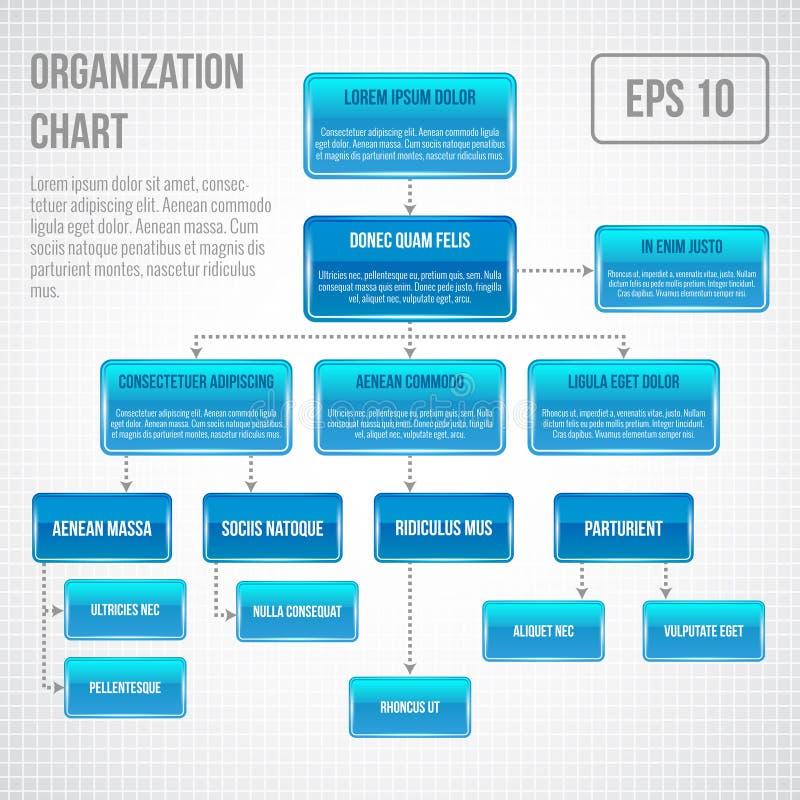 Organisatorische infographic grafiek stock illustratie