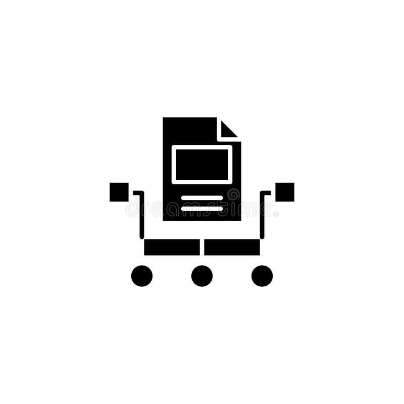 Organisatoriskt begrepp för ansvarighetsvartsymbol Organisatoriskt symbol för ansvarighetlägenhetvektor, tecken, illustration royaltyfri illustrationer