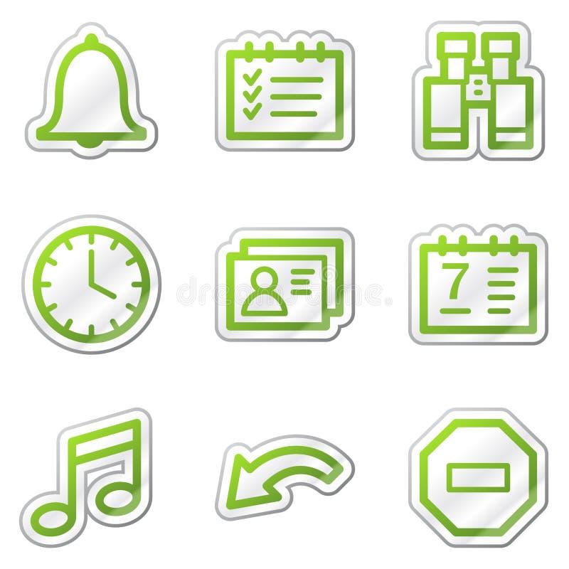 Organisatorweb-Ikonen, grüne Formaufkleberserie