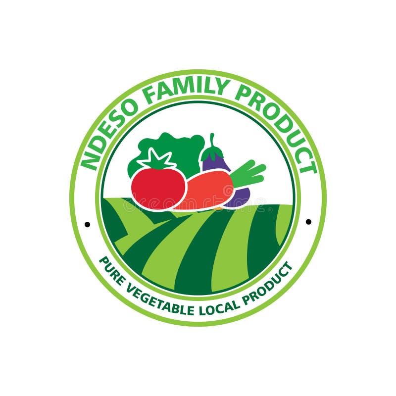 Organisch groentenembleem stock illustratie