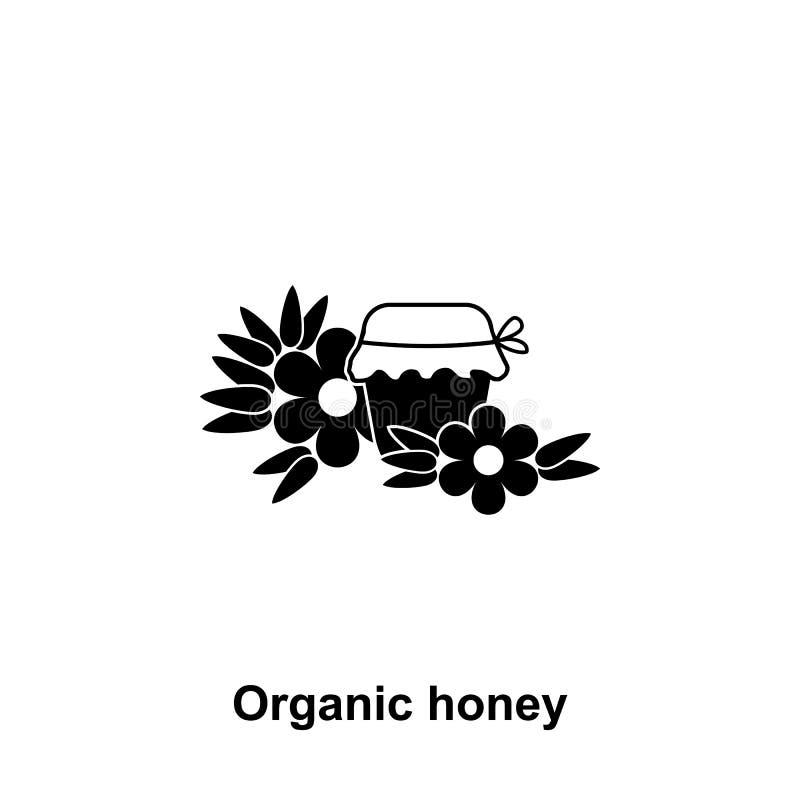 organisch honingspictogram Element van imkerijpictogram Grafisch het ontwerppictogram van de premiekwaliteit Tekens en symbolenin stock illustratie