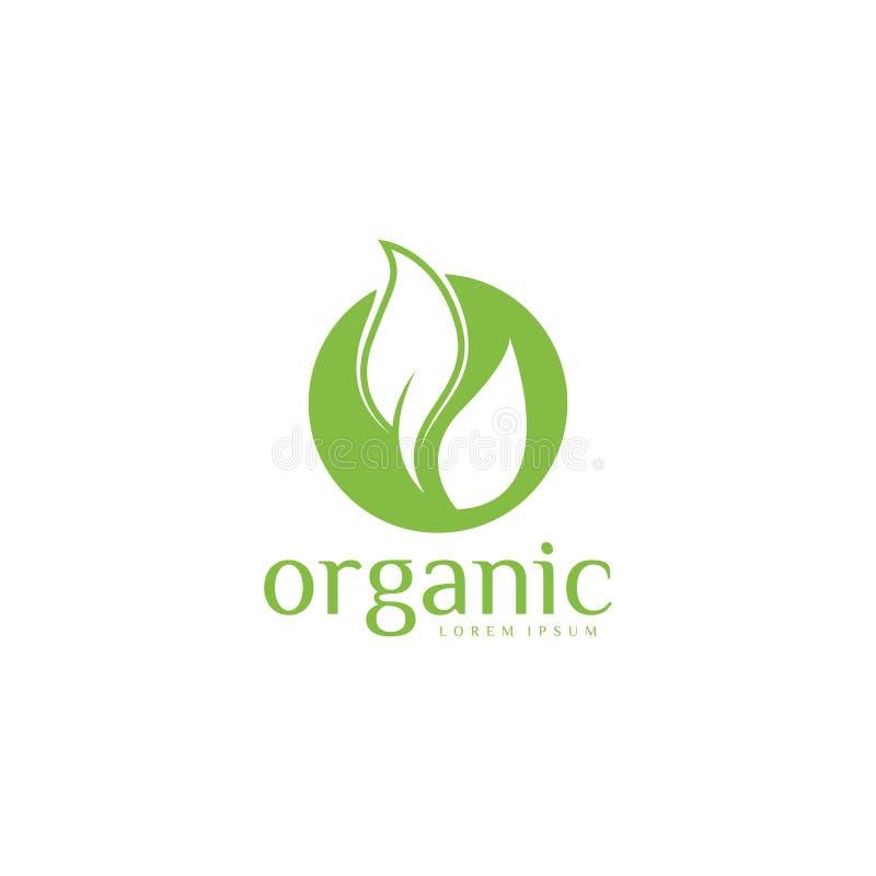 Organisch Logo Vector Art malplaatje Zaken vector illustratie
