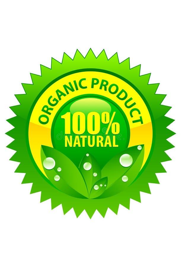 Organisch natuurlijk productetiket 100% royalty-vrije illustratie