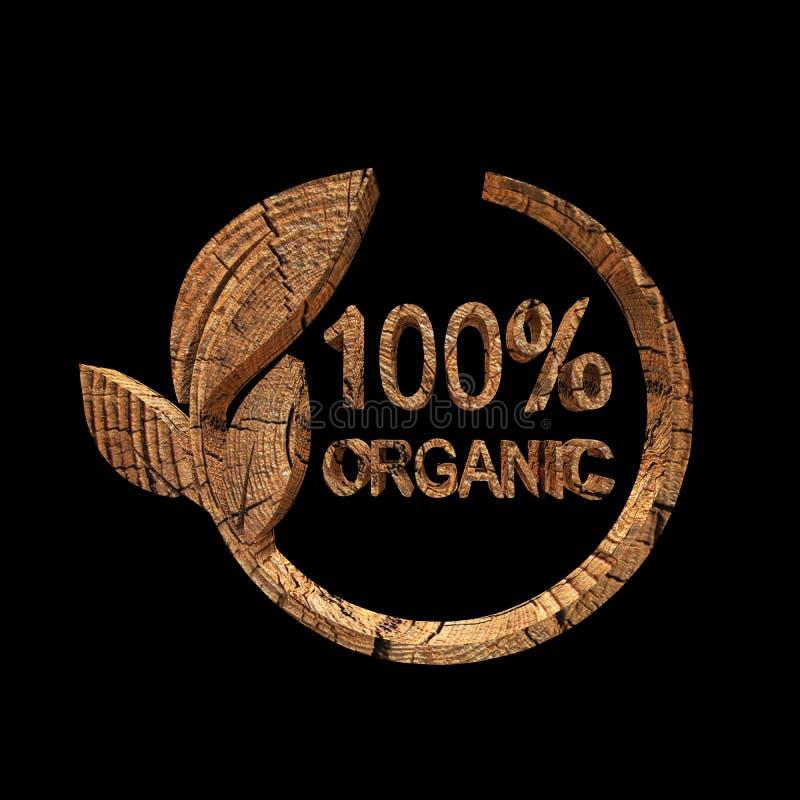 100% Organisch ontwerp, het 3d teruggeven vector illustratie