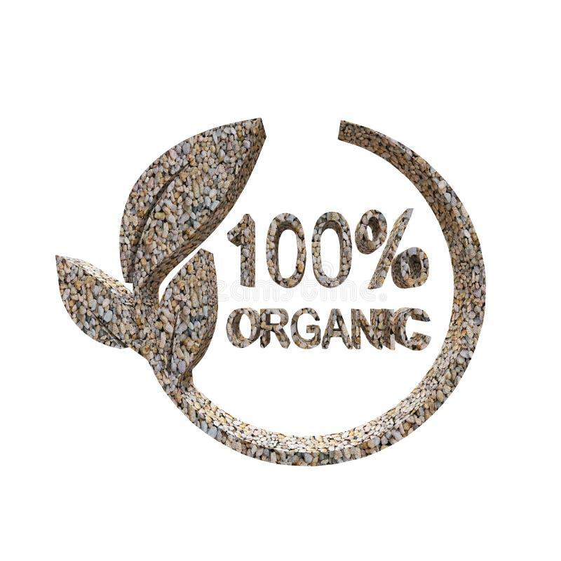 100% Organisch ontwerp, het 3d teruggeven stock illustratie