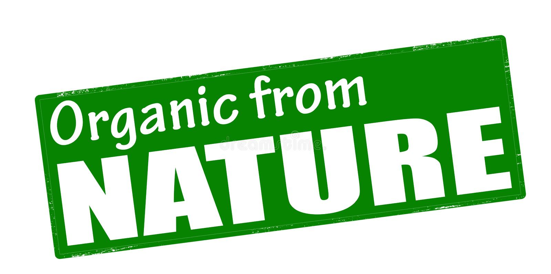 Organisch von der Natur lizenzfreie abbildung