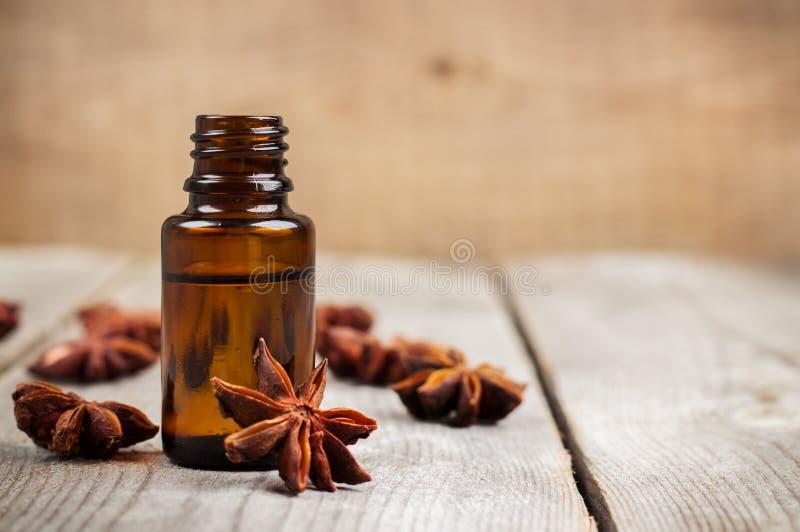 Organische anijsplantetherische olie royalty-vrije stock foto