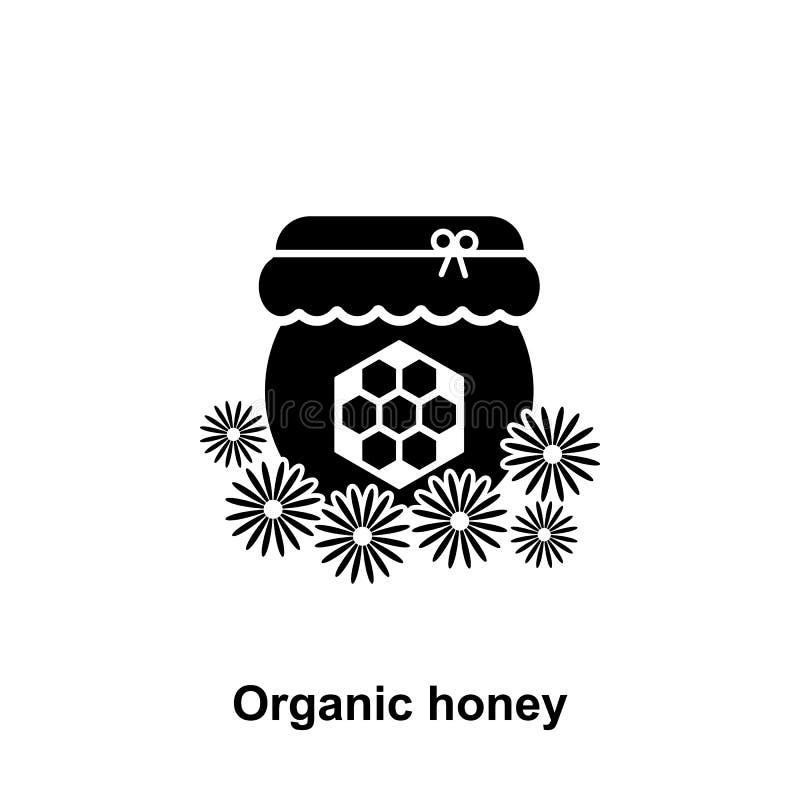 organische bloemhoning in kruikenpictogram Element van imkerijpictogram Grafisch het ontwerppictogram van de premiekwaliteit teke stock illustratie