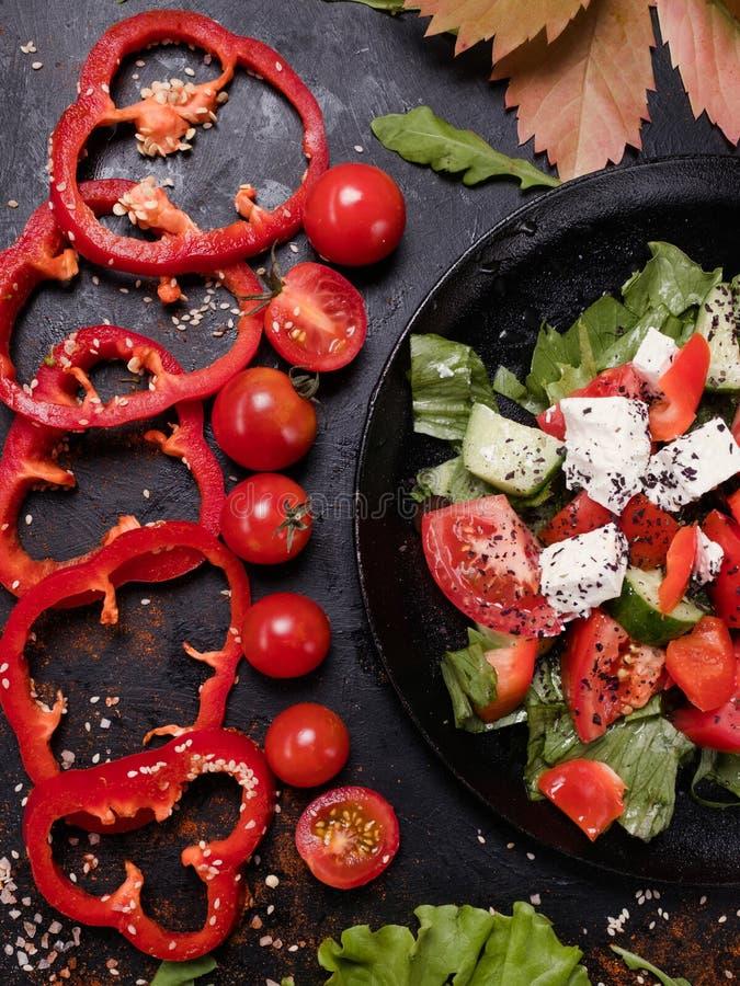 Organische de salade juiste voeding van Griekenland stock afbeelding