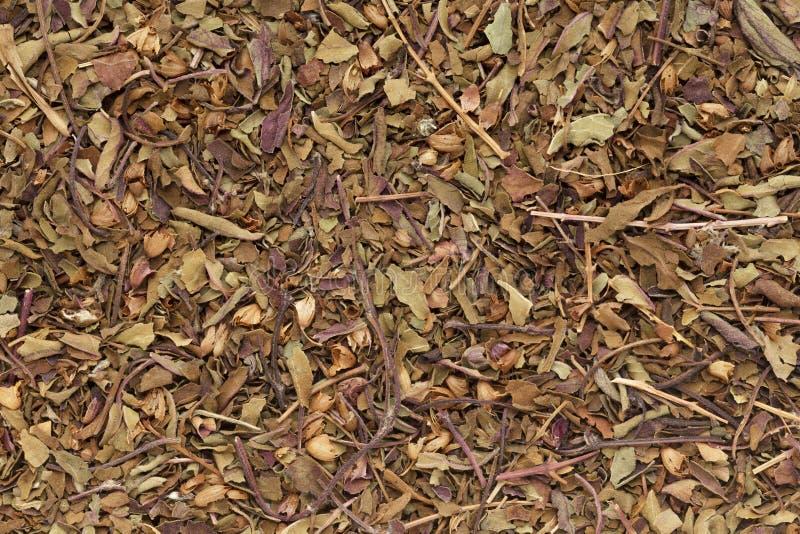 Organische droge Pepermunt (piperita van Mentha Ã-) bladeren stock foto's