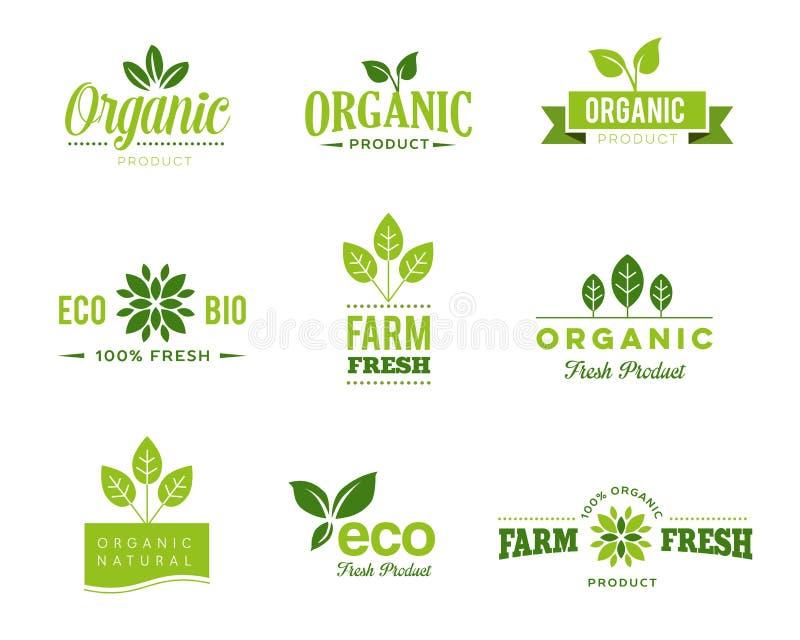 Organische Eco-Ikonen - Aufkleber lizenzfreie abbildung
