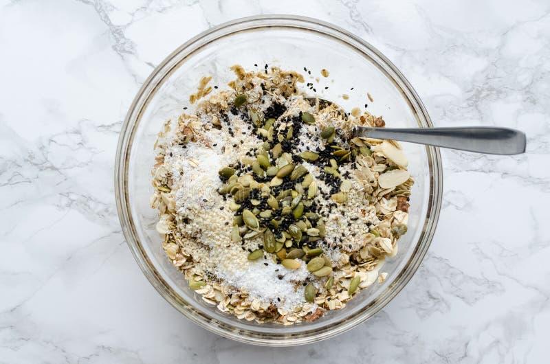 Organische eigengemaakte granola stock foto