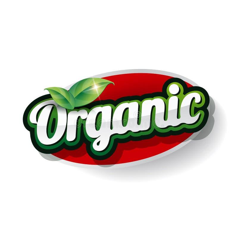 Organische Etiketvector stock illustratie