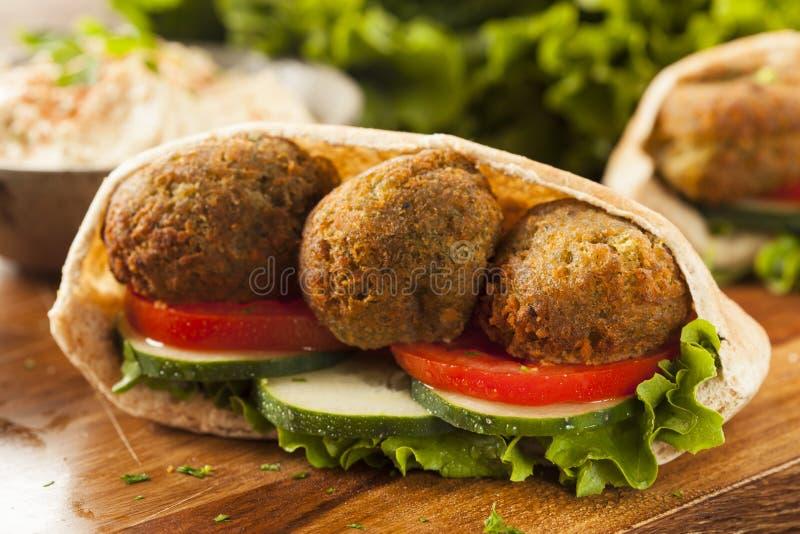 Organische Falafel in Pita Pocket stock foto's
