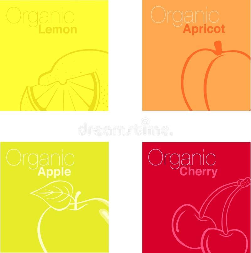 Organische Frucht stock abbildung