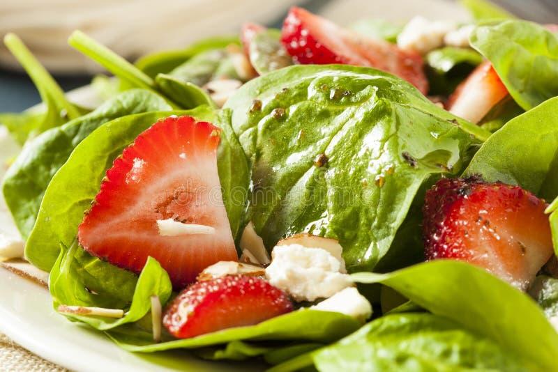Organische Gezonde Aardbei Balsemieke Salade royalty-vrije stock foto's